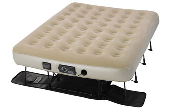 serta air mattress with frame and legs