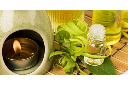 ylang ylang essentila oil and diffuser
