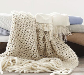 crochet chunky knit blanket