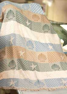 item 9 seashore woven beach throw blanket