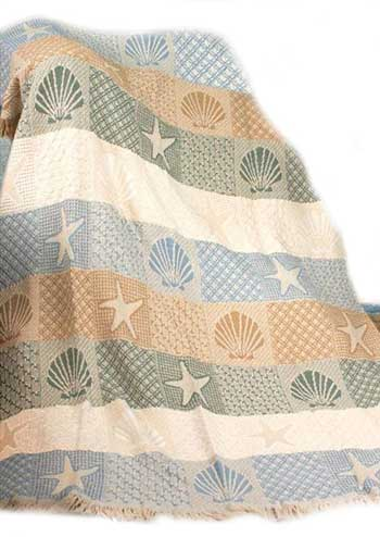 seashore beach throw blanket