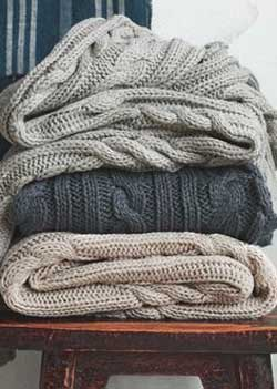 sweater knit blanket