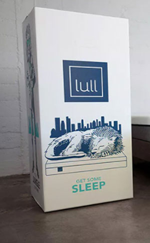 unboxing of the lull mattress