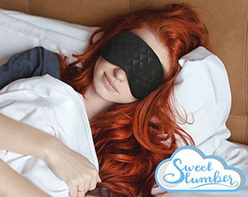 woman sleeping with slumber sleep mask