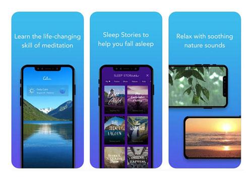 calm app screenshot modes