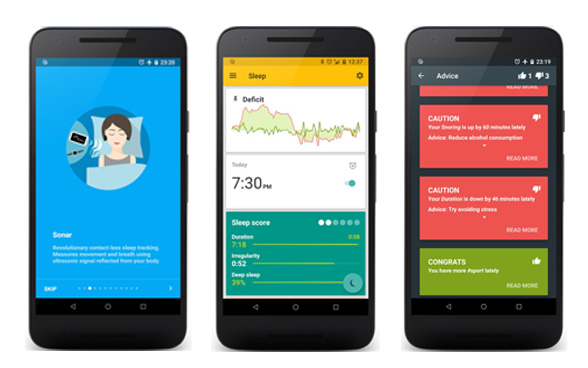 sleep as android screenshots of app features