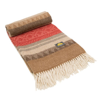 andean sun alpaca wool throw