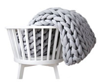 heavy chunky wool blanket
