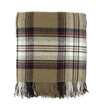 highland tartar scottish wool throw