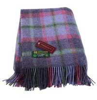 irish wool blanket john hanly plaid