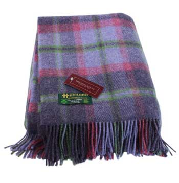 irish wool blanket throw john hanly plaid