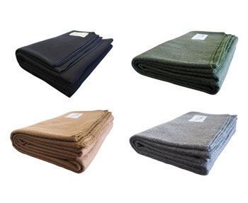 stargazer outtdors merino wool blanket color choices - us navy blue, green, brown and gray
