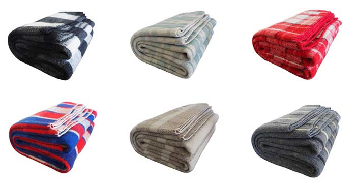 wooly mamooth farmhouse collection color choices - striped, blue, gray, red, us, navy