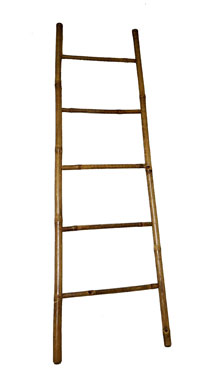 bamboo ladder for blankets and throws