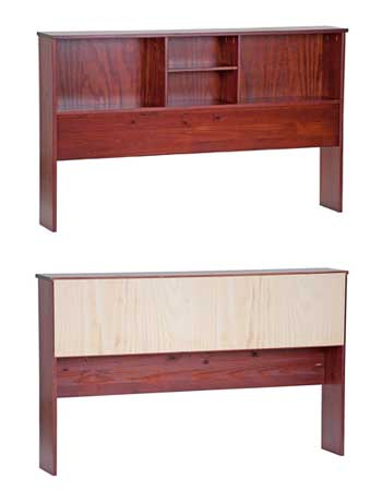 kansas solid wood bookcases for bed front and back