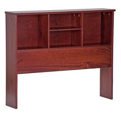 palace imports solid woodheadboard bookcase queen