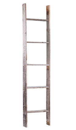 reclaimed wood rustic throw decorative blanket ladder