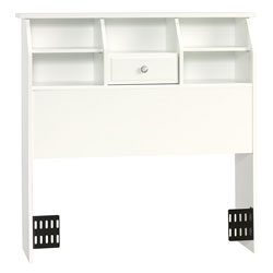 sauder shoal white full size bookcase headboard