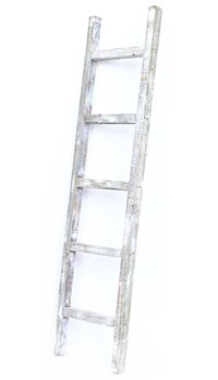white rustic style ladder rack
