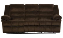 Simmons double motion upholstered sofa