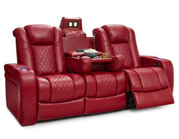 anthem power reclining sofa burgundy leather