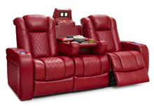 setcraft anthem power operated recliner sofa red