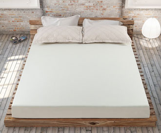 memory foam mattress on floor