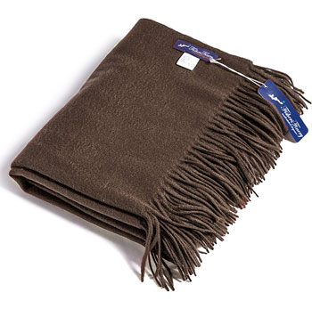 fishers finery cashmere light winter throw