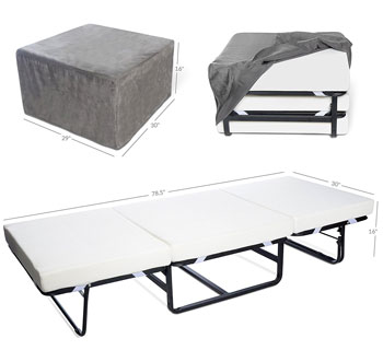 fold out ottoman by milliard