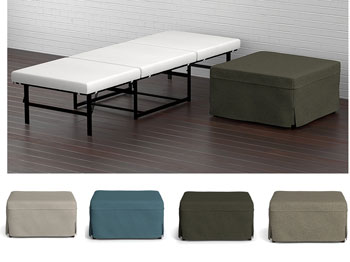 folding ottoman bed by handy living