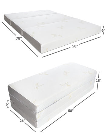 milliard tri fold - voted best floor mattress