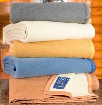 poyet winter blankets stacked