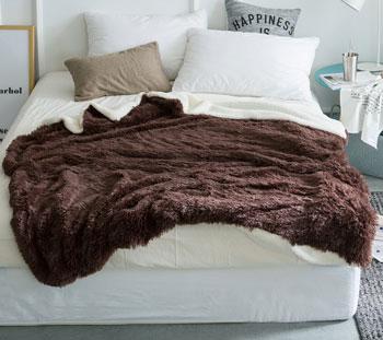 q bedding fuzzy winter blanket
