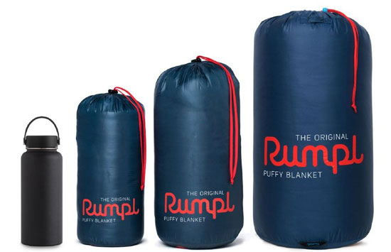 sizing options of rumpl blanket