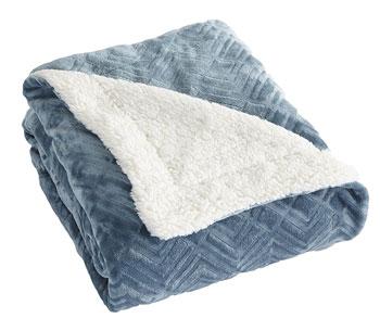 velvet berber blue blanket