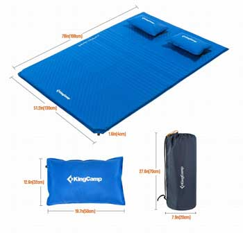 king camp deluxe camping pad